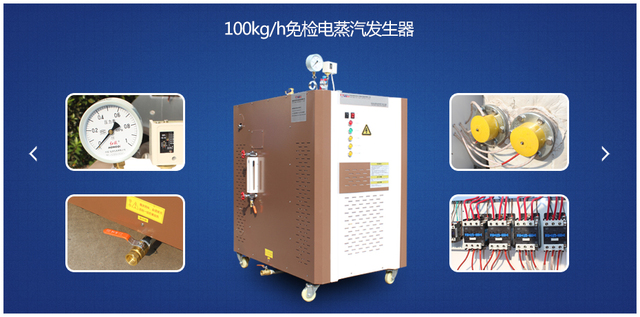 100kg/h免检电加热蒸汽发生器